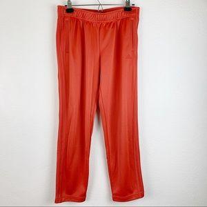 NWT Adidas Tear Away Snaps Orange Sweat Pants M